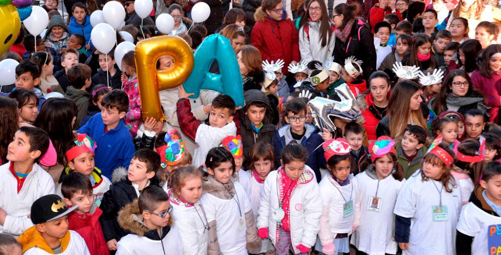 Los escolares levantan la voz por laPaz