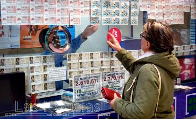 Vendidos en Cuenca un primer y un segundo premio de la Lotería Nacional