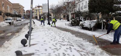 San Clemente ha combatido la nevada con más de 55.000 kilos de sal