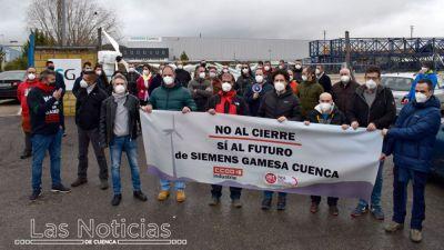 Concentración en Siemens-Gamesa Cuenca contra el cierre de la planta