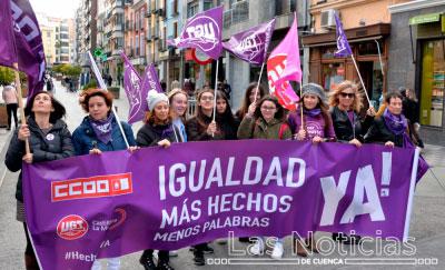 Los sindicatos se movilizan en Cuenca por una igualdad real