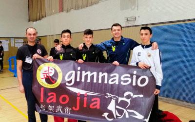Manuel Arce lidera la actuación del Lao Jia en el XXXIC Campeonato de España de Wu Shu