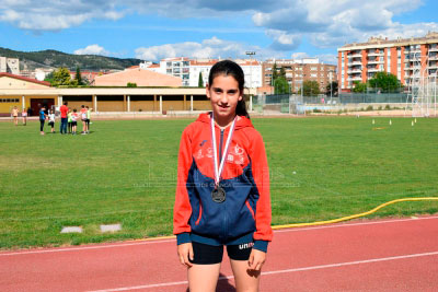 La atleta Nara Pastor se estrenó en un Campeonato de España