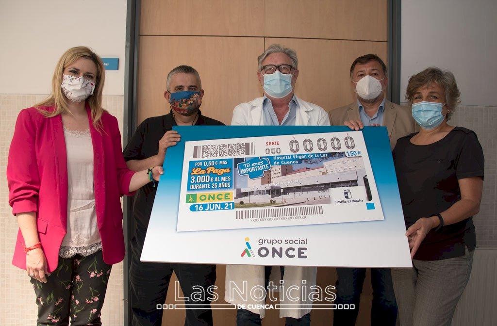 El hospital de Cuenca protagoniza el cupón de la ONCE del 16 de junio