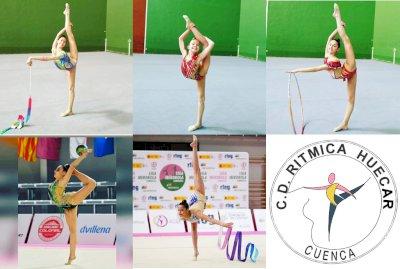 El C.D. Huécar clasifica a cuatro gimnastas para las citas nacionales de gimnasia rítmica
