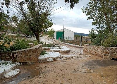 El granizo arrasa cientos de hectáreas de cultivo en la Alcarria conquense