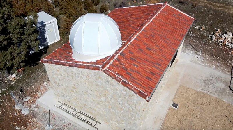 Imagen cenital del observatorio de Vega del Codorno. Foto: AstroCuenca