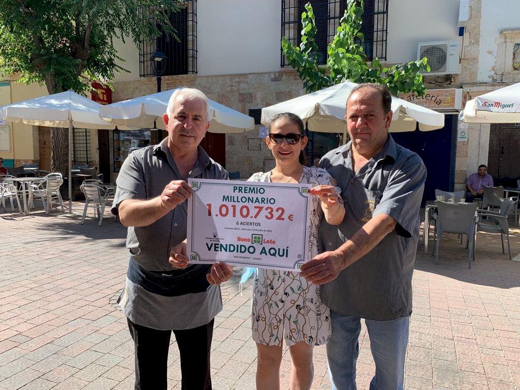 La Bonoloto deja un premio en Sisante de un millón de euros