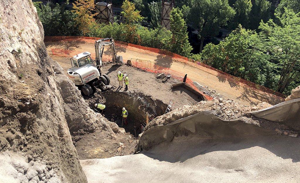 La reconstrucción del muro de la calle Canónigos comenzará en diez días