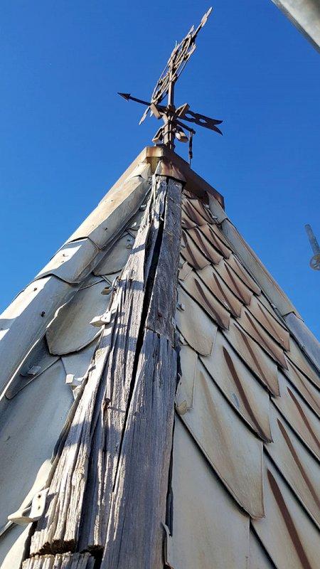 Estado del chapitel de la torre del Salvador. Foto: Antonio Trujillo