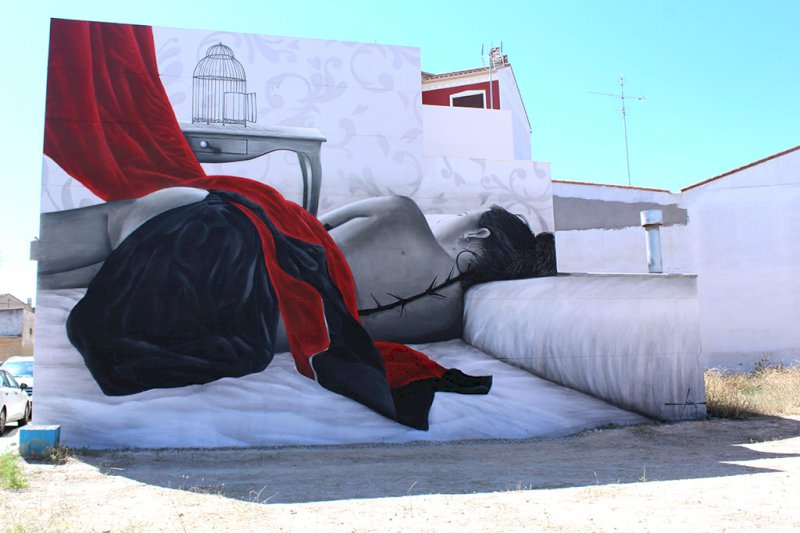 Concluye con éxito el II Festival de Arte Urbano de Iniesta 'Astarté'