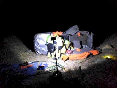 Bomberos liberan a dos heridos en un accidente de tráfico en Torrubia del Campo
