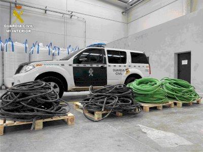 Roban más de 1.850 kilos de cable de cobre de una empresa de Tarancón