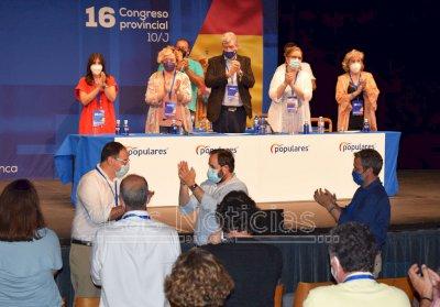 Benjamín Prieto, reelegido presidente del PP con el 96,4% de los votos
