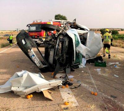 Dos heridos, uno menor, en un accidente de tráfico en Villamayor de Santiago