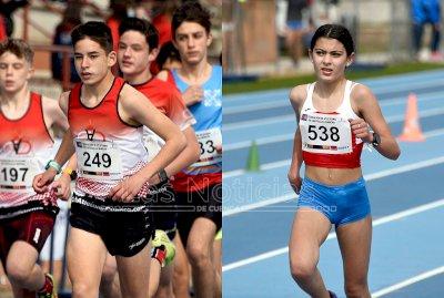 Álex Hontecillas y Mónica Guijarro, representación conquense en el nacional sub16