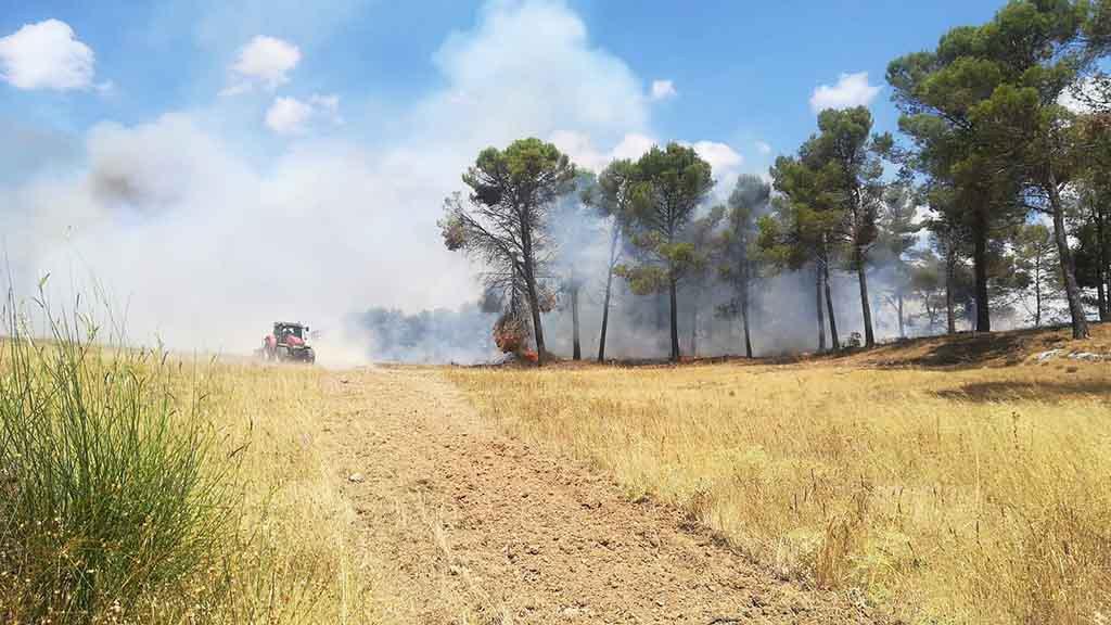 Controlado un incendio forestal en Fuentelespino de Haro