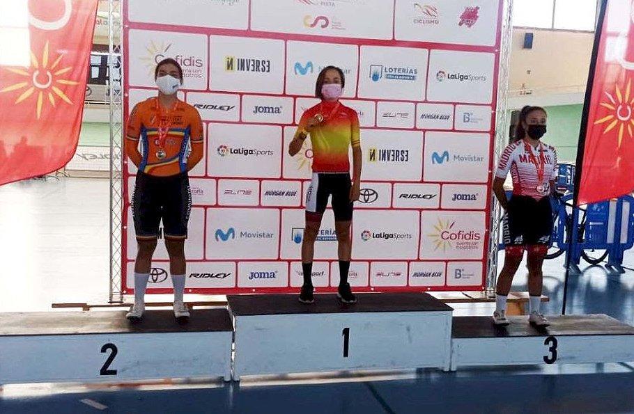 La provenciana Marta Rosillo, campeona de España junior de ciclismo scratch