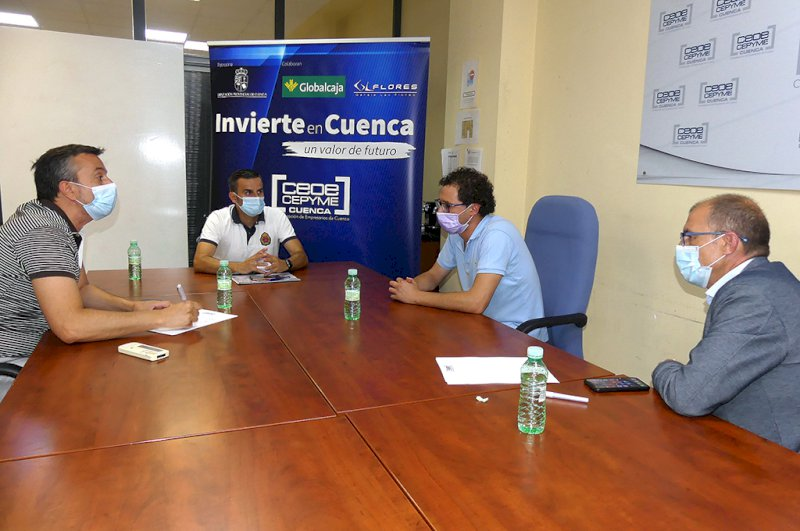 Reunión entre Invierte en Cuenca y Fran Martínez. Foto: CEOE CEPYME Cuenca