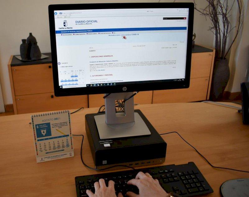 La web del DOCM recibe 1,2 millones de visitas en el primer semestre
