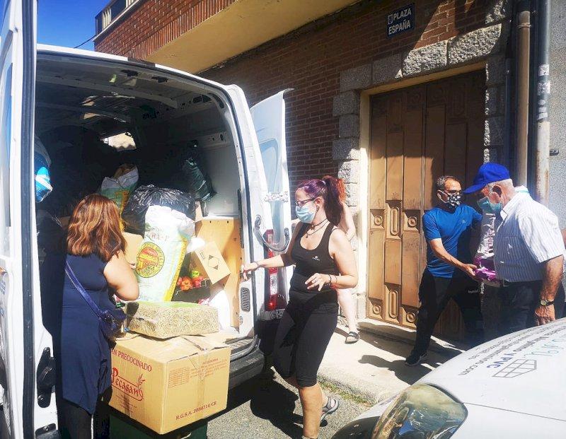 Ya en Ávila el material recogido en Las Pedroñeras para los damnificados por el incendio