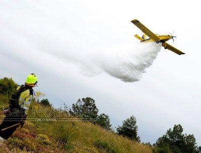 Incendios activos en Huerta del Marquesado, Barajas de Melo y Cueva del Hierro