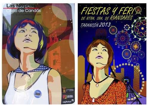 """""""Sospechosas"""" similitudes entre el cartel de las fiestas de Tarancón de 2013 y el de las fiestas de Candás de 2009"""