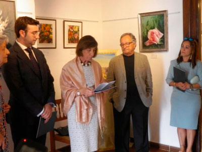 Emotiva inauguración de la muestra de pintura de Petri Fernández Bonilla
