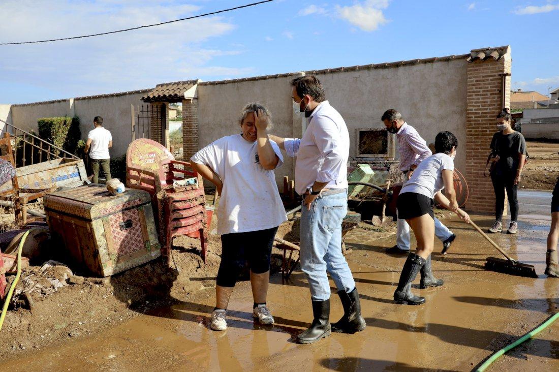 Núñez muestra su disposición a colaborar con la Junta en ayudas por tormentas
