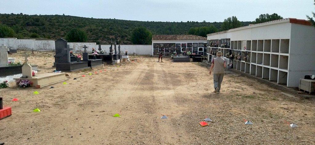 Sondeos con georradar para la exhumación de la fosa de  Pajaroncillo