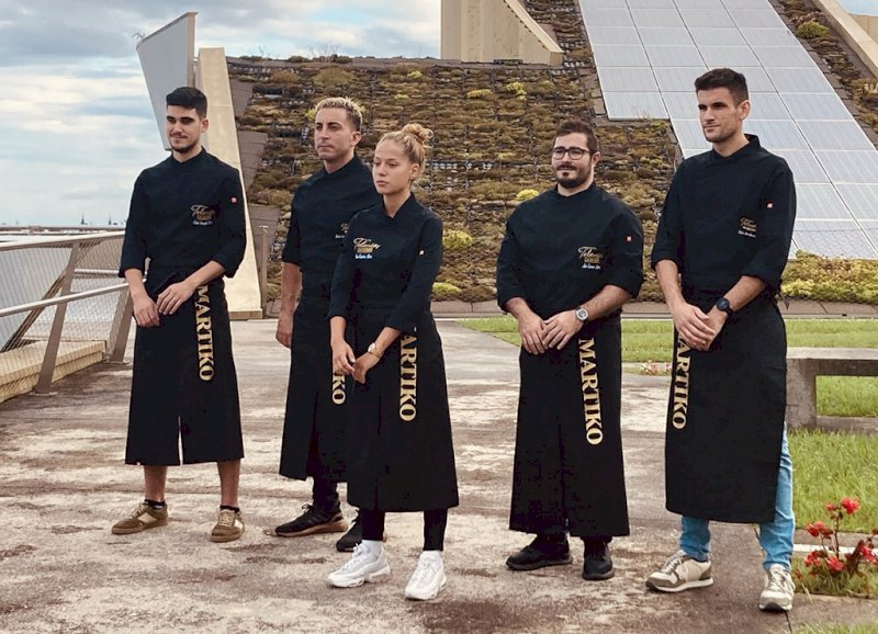 Los cinco finalistas del II Concurso Martiko Talentos.