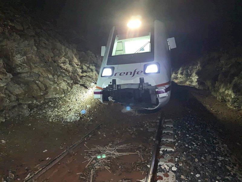 Descarrilla en Ocaña un tren procedente de Tarancón