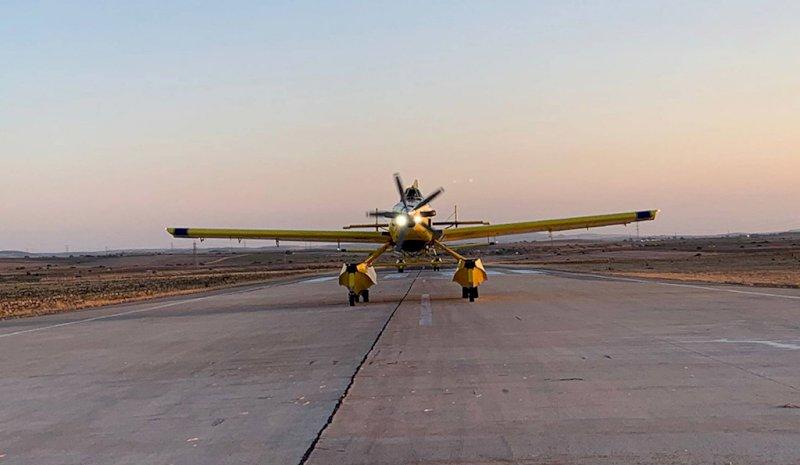Castilla-La Mancha envía, por tercer día, 4 aviones a Jubrique