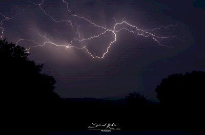 Las impactantes imágenes de la tormenta eléctrica en la provincia