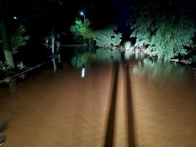 Una fuerte tromba de agua causa inundaciones en Tarancón