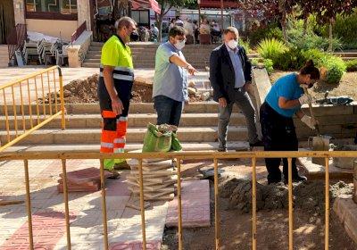 Obras de mejora en la Plaza de la Ajedrea