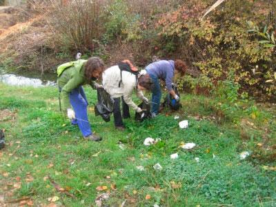 Vecinos y ecologistas recogen más de 150 kilos de basura en dos zonas naturales de Villalba de la Sierra