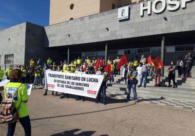 La huelga de ambulancias en la provincia de Cuenca afronta este lunes su tercera semana