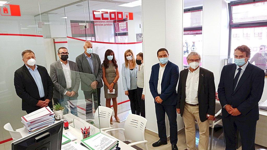 CCOO inaugura su sede con el reto de avanzar en lo laboral