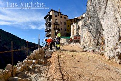 Las obras de la calle Canónigos están ya al 75% de su ejecución