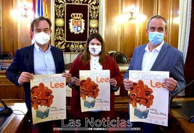 Espido Freire, Lorenzo Silva y Guille Galván, en la Feria del Libro 'Cuenca Lee'