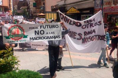 Vuelven a la calle para pedir el 'San Martín' de la industria porcina
