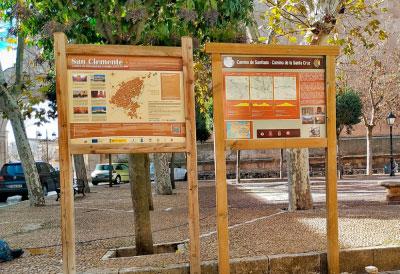 Los Amigos del Camino de Santiago y de la Santa Cruz señalizan el tramo de la ruta conquense