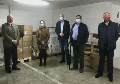 La Subdelegación del Gobierno comienza el reparto de 56.000 mascarillas